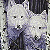 Fantastic woods wolves slide puzzle