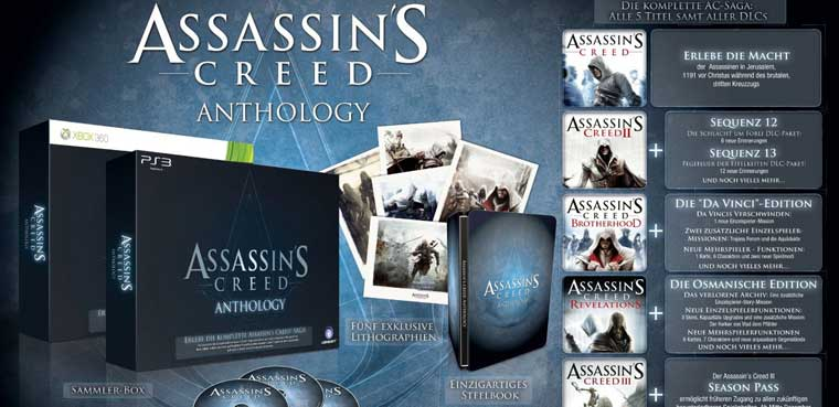 Assassin's Creed Anthology-PS3-PC-Xbox 360