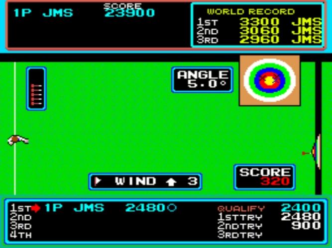 Hyper Sports tiro con arco