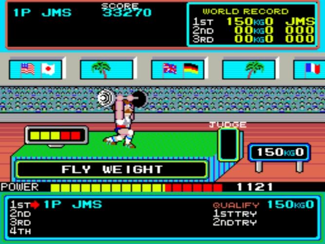 Hyper Sports levantamiento de peso