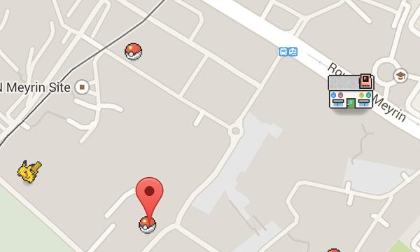 El primer centro Pokémon que nos encontramos y los protagonistas.