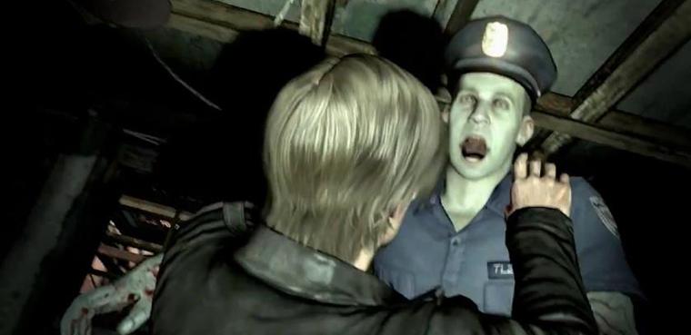 Resident Evil 6 - captura Leon y zombie