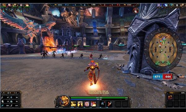 Gameplay en modo Arena.