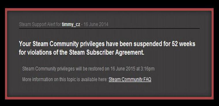 Steam Ban