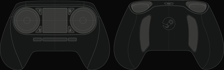 Steam Controller trackpads