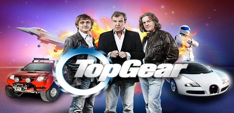 Richard Hammond, Jeremy Clarkson, James May y The Stig.