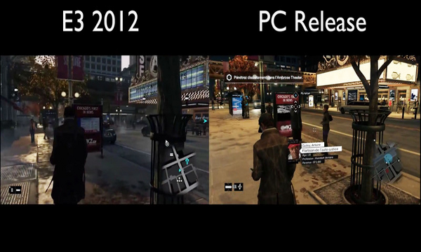 Watch dogs E3 vs Real