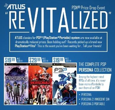 Atlus tira los precios en la PS Store norteamericana