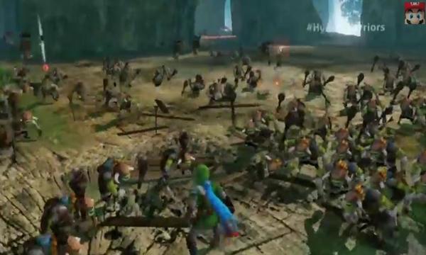Link luchando contra las masas.
