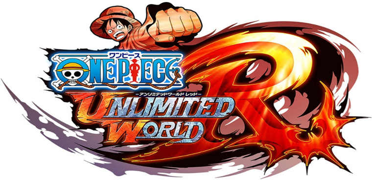 logo one piece unlimited-world-red