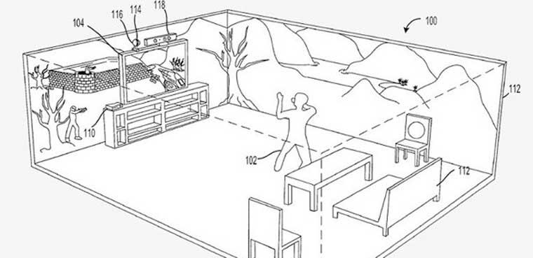 Microsoft trabaja para proyectar un entorno completo de juego 3D en las habitaciones de nuestro hogar.