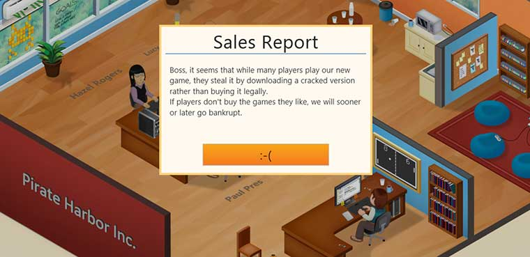 Game Dev Tycoon pirateria piratería PC Mac Linux
