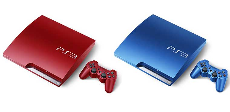 PS3 azul y rojo