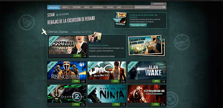 Steam para pc, mac y linux