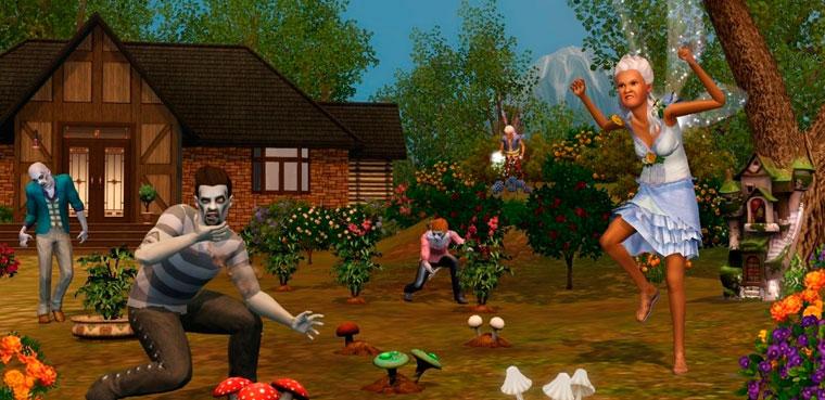 'Los Sims 3 Criaturas Sobrenaturales' muestra sus zombis y hadas