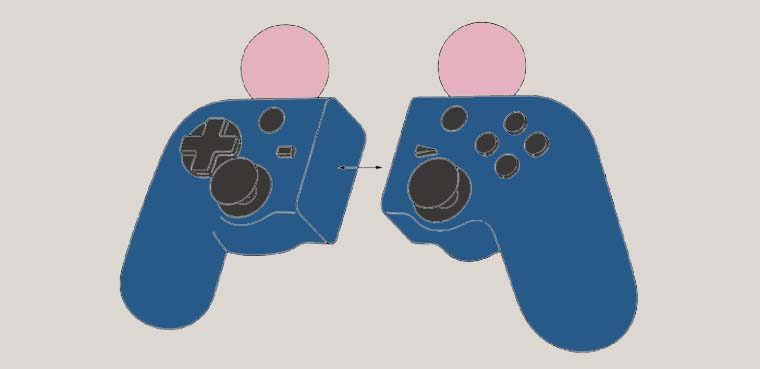 Controlador híbrido DualShock-Move de Sony