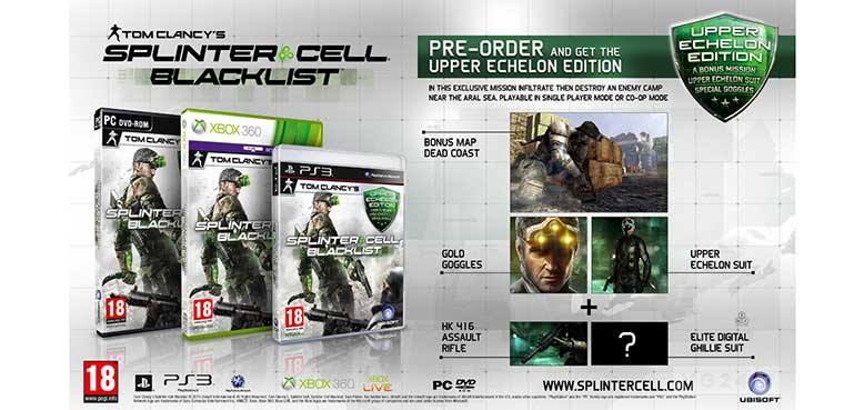 Splinter Cell: Blacklist para pc, xbox 360 y ps3