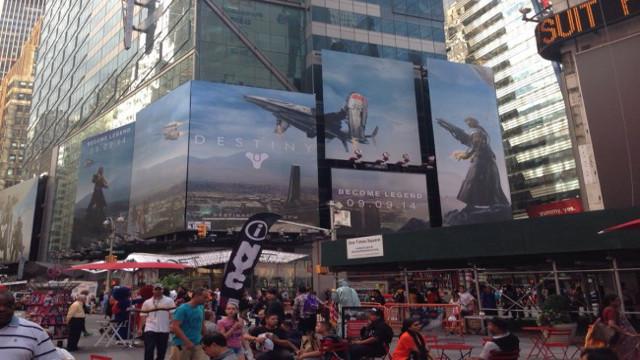 Times Square lleno de publicidad