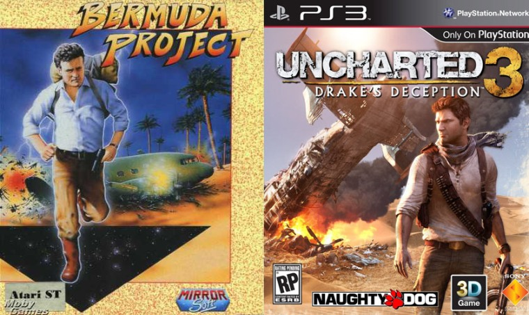 Uncharted 3: La traición de Drake - PS3; Bermuda Project - Atari ST, Amiga