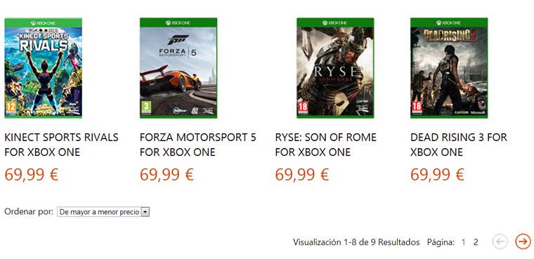 Xbox One - Precio
